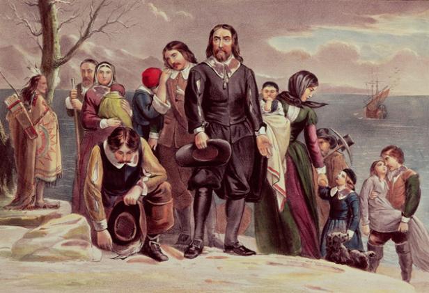 William Bradford si Pelerinii de pe Mayflower